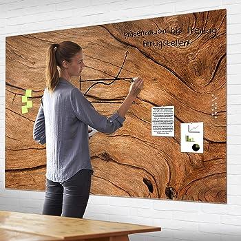 banjado XXL Glas Magnettafel 4 Magnete Magnetwand viele Größen Patina Grün