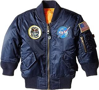 Alpha Industries Girls' Little NASA MA-1 Bomber Jacket