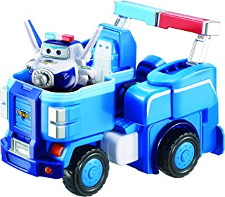 Super Wings - Paul's Police Cruiser | Transforming Toy Vehicle Set | Includes Transform-a-Bot Paul Figure | 2