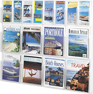 Safco Products Plastic Literaure Display, 8 Magazines/8 Pamphlets, 40-Inch ES Widthx34.75-Inch ES Height, Clear (5611CL)
