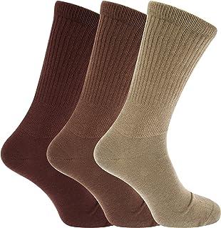 3x Pares De Hombre Muy Ancho Diabético Big Foot Calcetines Con Dedo Del Pie Vinculado MANO COSTURA/GB 11-14 EUR 45-49