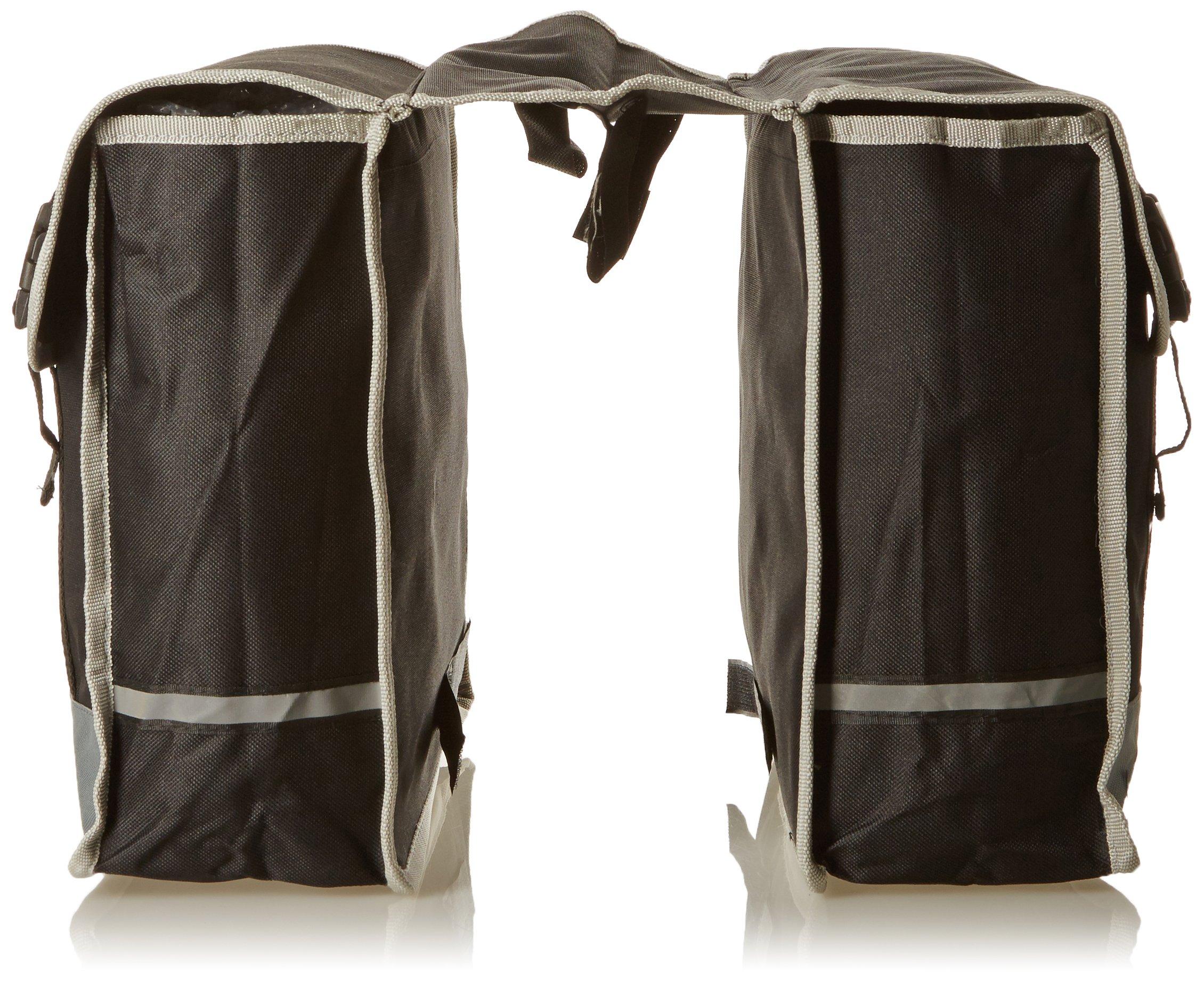 Dunlop - Alforjas para Bicicleta, Doble PES, Negro/Gri: Amazon.es: Deportes y aire libre