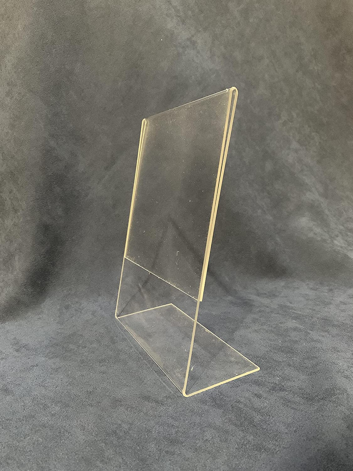 KHM 8X6 Acrylic New Orleans Mall Sign Holder with Plexi Super sale Slant Vertical Back Clear