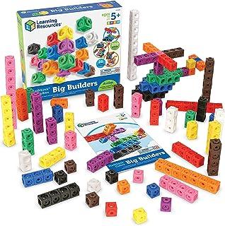 مكعبات ماثلينك من ليرنينج ريسورسز، لعبة إبداعية، مكعبات رياضيات، مهارات رياضيات مبكرة، مجموعة من 200 مكعب، أعمار 5+