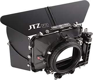 JTZ DP30 Cine Lens Carbon Fiber 4x4 Swing-Away Matte Box with 15mm/19mm Rod Rail Rig for Sony FS5 FS7 ARRI RED Canon C100 C200 C300 BM D Blackmagic BMPCC BMCC Pocket Cinema Panasonic Camera