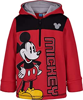 Disney Boys Fleece Zipper Hoodie: Toy Story, Lion King, Mickey & Puppy Dog Pals
