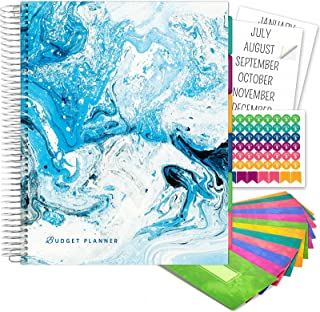 $29 » Budget Planner & Monthly Bill Organizer with 12 Envelopes and Pockets. Expense Tracker Notebook and Financial Planner Budg...