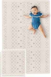 Yay Mats Stylish Extra Large Baby Play Mat. Soft, Thick, Non-Toxic Foam Covers 6 ft x 4 ft. Expandable Tiles with Edges Infant and Toddler Puzzle playmat