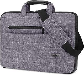 LOKASS Laptop Bag Slim Lightweight Laptop Shoulder Messenger Bag Business Briefcase Water Resistant Portable Computer Tablet Carrying Sleeve Case w/Strap Fits 15-15.6 Inch Laptop for Men Women, Gray