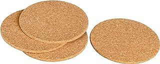 Salvamanteles de corcho, 25 cm, redondas Posavasos para ollas, sartenes, vasos, cuencos, Jarrones, Decoración de escritorio (también para manualidades - Mini tablón - Resistente al calor
