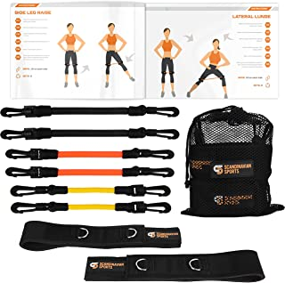 Leg Resistance Bands – Agility & Speed Bands Training Set – Running Training Equipment for Increased Leg/Muscle Strength, Speed Level, Quickness Bonus Folder with 12 Workout Exercises