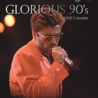 2020 Wall Calendar - Glorious 90s Calendar, 12 x 12 Inch Monthly View, 16-Month, Includes 180 Reminder Stickers