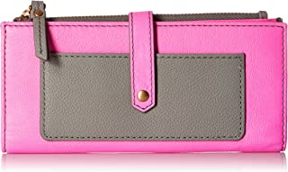 Fossil Keely Tab Check Book Cover for Women - Leather, Pink (SL7217664)