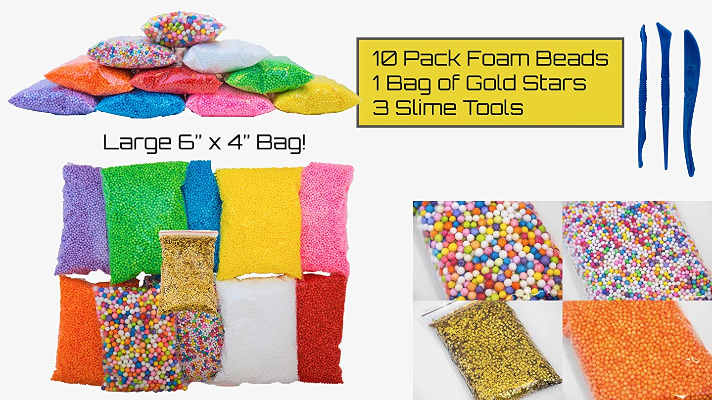 Slime Kit - Slime Supplies - Slime containers - 12 Pack Slime Making Kit, Approx 80,000 PCS Slime Beads by Goozy