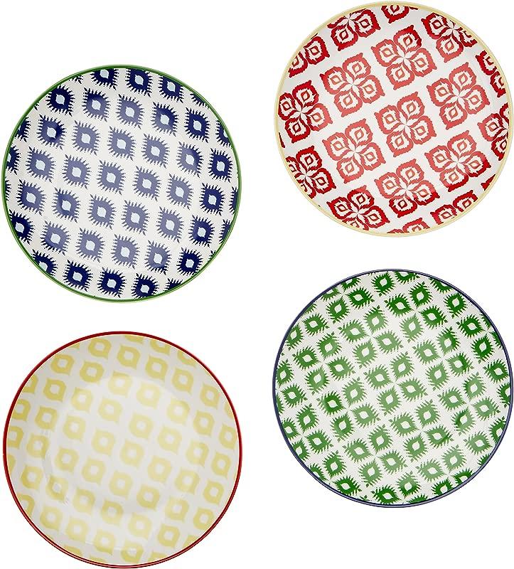 Paperproducts Design 30002 Belize Salad Dessert Plate Set Of 4 8 25 Multicolor
