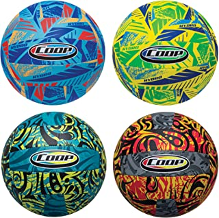 COOP Hydro Waterproof Volleyball- Outdoor Pool Toy for Kids and Adults- Colors May Vary