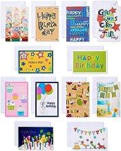کارت تبریک تولد کودکان و نوجوانان با پیام های داخل پاکت های سفید ، 12 تعداد