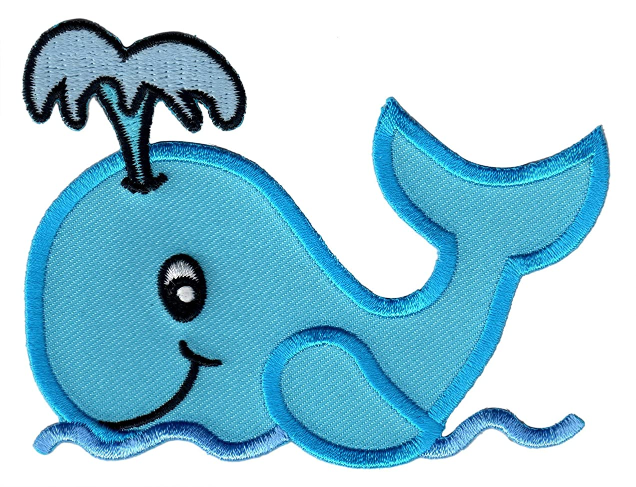 PatchMommy Iron On Patch, Whale - Appliques for Kids Children