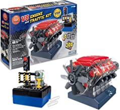 Build Your Own Toys for Boys, Adults & Girls, STEM Toy with Sound Lights V8 Motor Model Engine + Traffic Lights Constructi...