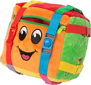 Buckle Toy - Bingo Cube - Sensory Activity Toy - Develop Fine Motor Skills - Counting and Math - Storage for Small Items