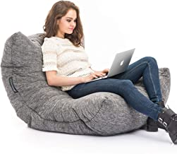 Ambient Lounge Acoustic Sofa Designer Bean Bag with Filling in Luscious Grey Interior Fabric