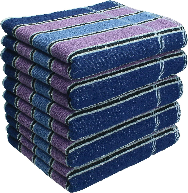 Arbeitshandtücher Set 40 x 90 cm 100% Baumwolle, Baumwolle, Baumwolle, blau lila gestreift Menge 20 Stück B01G50MWZO 05d0a5