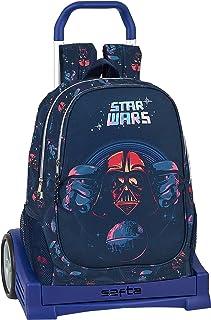 Mochila Escolar Espalda Ergonómica con Carro Evolution de Star Wars, 612001860, Multicolor