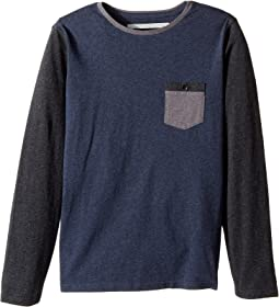 Quiksilver Kids - Baysic Long Sleeve Crew Tee (Big Kids)