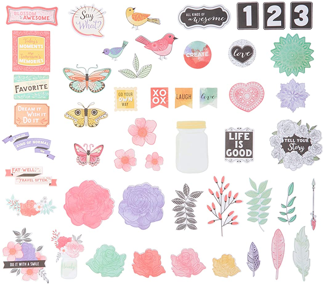 American Crafts All The All The Good Things Icons Vicki Boutin Ephemera Cardstock Die-Cuts 50/Pkg