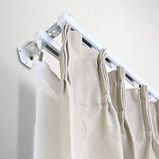A&F Rod Décor - White Double Curtain Track/Room Divider Kit 12 ft (composed of four 6ft track) - Wall Mount