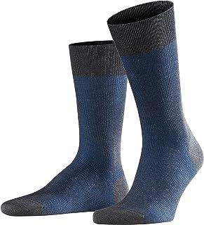 FALKE Socken Fine Shadow Baumwolle Herren schwarz grau viele weitere Farben verstärkte Herrensocken mit Muster atmungsaktiv gestreift gerippt und dünn 1 Paar