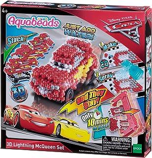 Aquabeads- Coffret Cars 3 Flash McQueen Pixar Loisirs créatifs, 30198, Multicolore