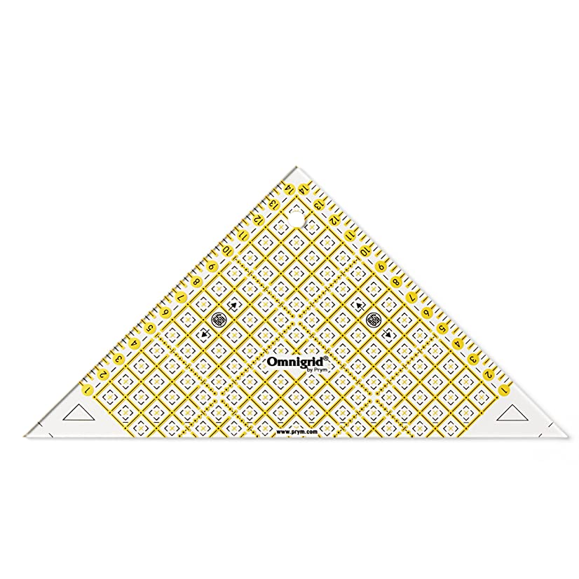 Dritz Omnigrid R915 Metric Right Triangle Quilter's Ruler