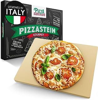 Pizza Divertimento - Pizzastein für Backofen und Gasgrill – Pizza Stein aus Cordierit bis 900 °C – Pizza Stone für knusprigen Boden & saftigen Belag
