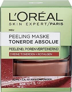 """L""""Oreal Paris Tonerde Absolue Rote Peeling Maske, mit Rotalgen, reinigt intensiv, verfeinert Poren und glättet den Teint, 50 ml"""