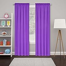 ستائر نافذة ECLIPSE Tricia Room Darkening الحرارية لغرفة النوم، لوحة مزدوجة، 132.08 سم × 160.04 سم، أرجواني