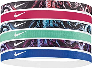 Nike Swoosh Sport Headbands 6pk (Black/Wild Cherry)