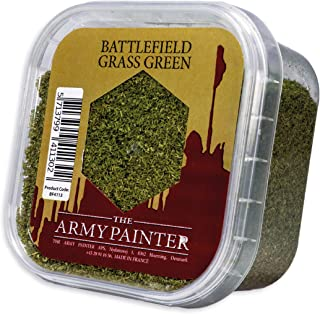 The Army Painter Battlefield Essential Series: Battlefield Grass Green for Miniature Bases and Wargame Terrains - Static Grass for Bases of Miniature Toys, 150 ml
