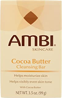 Ambi Skincare Bars Cocoa Butter Cleansing Bar, 3.5 Ounce (Pack of 6)
