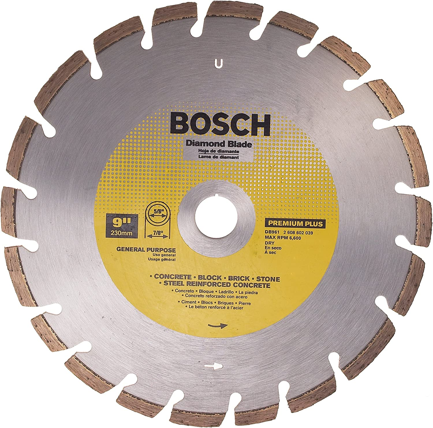 Bosch DB961 Premium Plus sold out 9-Inch Segment Dry Laser Max 45% OFF Fusion Cutting