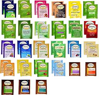 Twinings Tea Bags Sampler- Great for Herbal & Green Tea Lovers - 49 Count