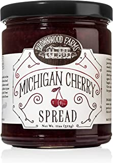 Brownwood Farms Michigan Cherry Spread - 11 oz jar - Gluten Free - Use on Toast - Muffins -Biscuits - Bagels – or as a Glaze on Poultry - Fill your own Pop Tart (BWF Ch Spd 11)