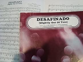 Desafinado / Jobim / Piano vocal chords