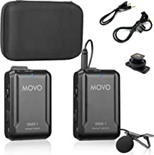 Movo WMX-1 2.4GHz Wireless Lavalier Microphone System Compatible with DSLR Cameras, Camcorders, iPhone, Android Smartphone...