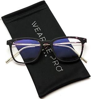8bde06636a2 WearMe Pro - Modern Square Metal Frame Thin Frame Unisex Prescription  Glasses