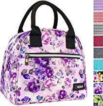 OPUX Insulated Lunch Box for Women   Lunch Bags for Women, Girls, Teens   Cute Floral Reusable Thermal Lunch Tote Purse Co...