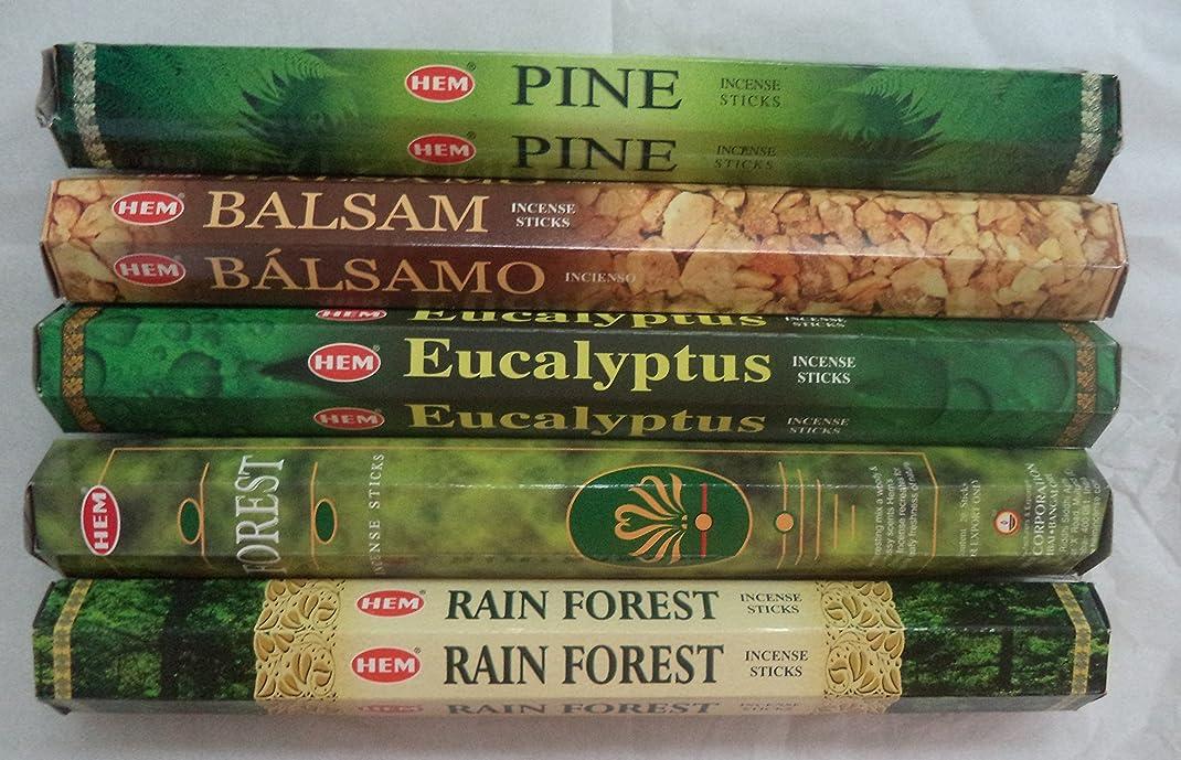 異議弱点外向きHemお香Pine Balsamユーカリフォレスト最初雨5?x 20、100?Sticks