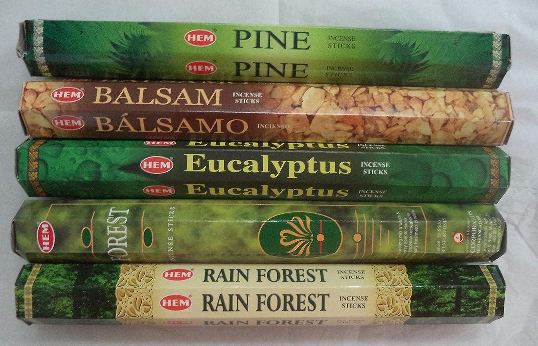 大宇宙接続された千Hemお香Pine Balsamユーカリフォレスト最初雨5?x 20、100?Sticks