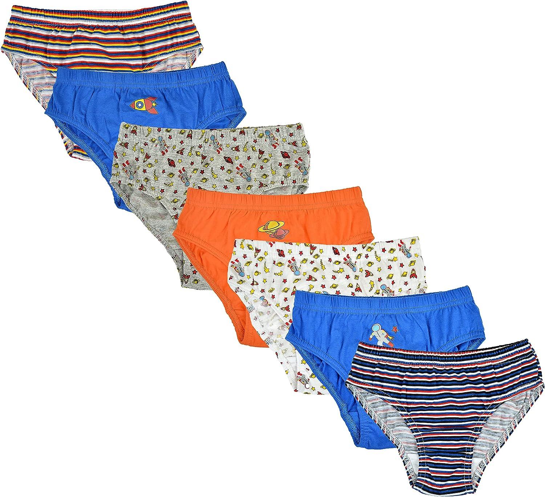 Kids Boys Girls 7 Pack Cotton Briefs Underwear