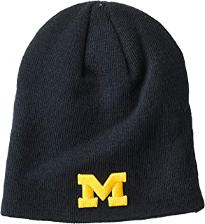 One Size 47 NCAA Michigan Wolverines Orca Sherpa Knit Beanie Navy